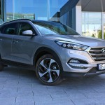 Hyundai Tucson in front of HQ Hyundai Europe