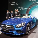 Mercedes SL - Blue - Front and side