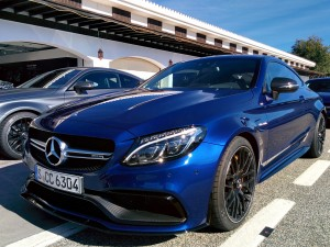 C-Class Coupe - Blue - Front and side