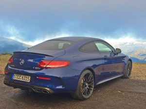 C-Class Coupe - Blue - Rear and side