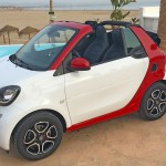 smart Cabrio 2016 at Valencia beach