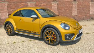 VW Beetle Dune in sandstorm yellow
