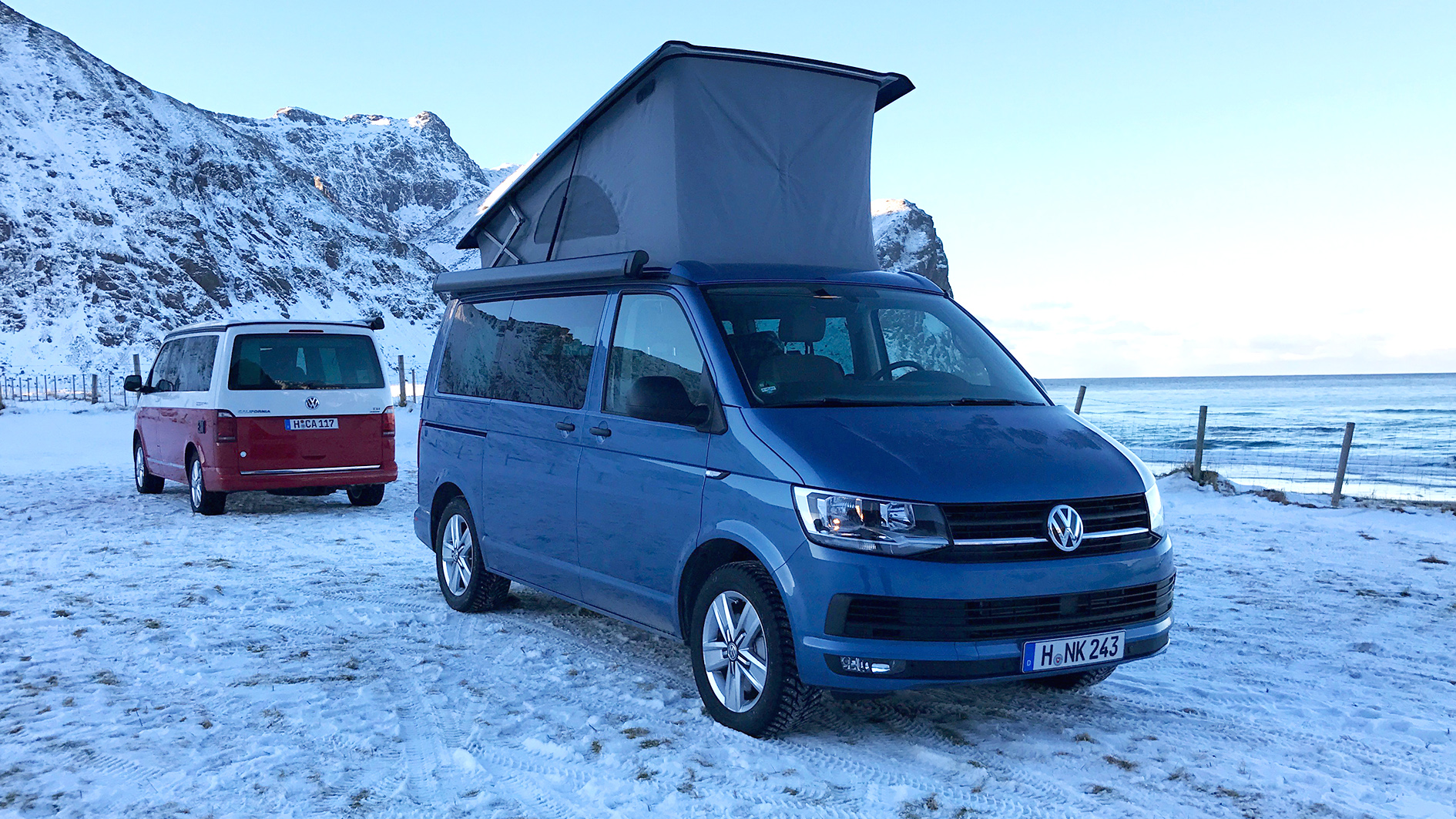 volkswagen vw t6 california 2017 trip to the lofoten. Black Bedroom Furniture Sets. Home Design Ideas