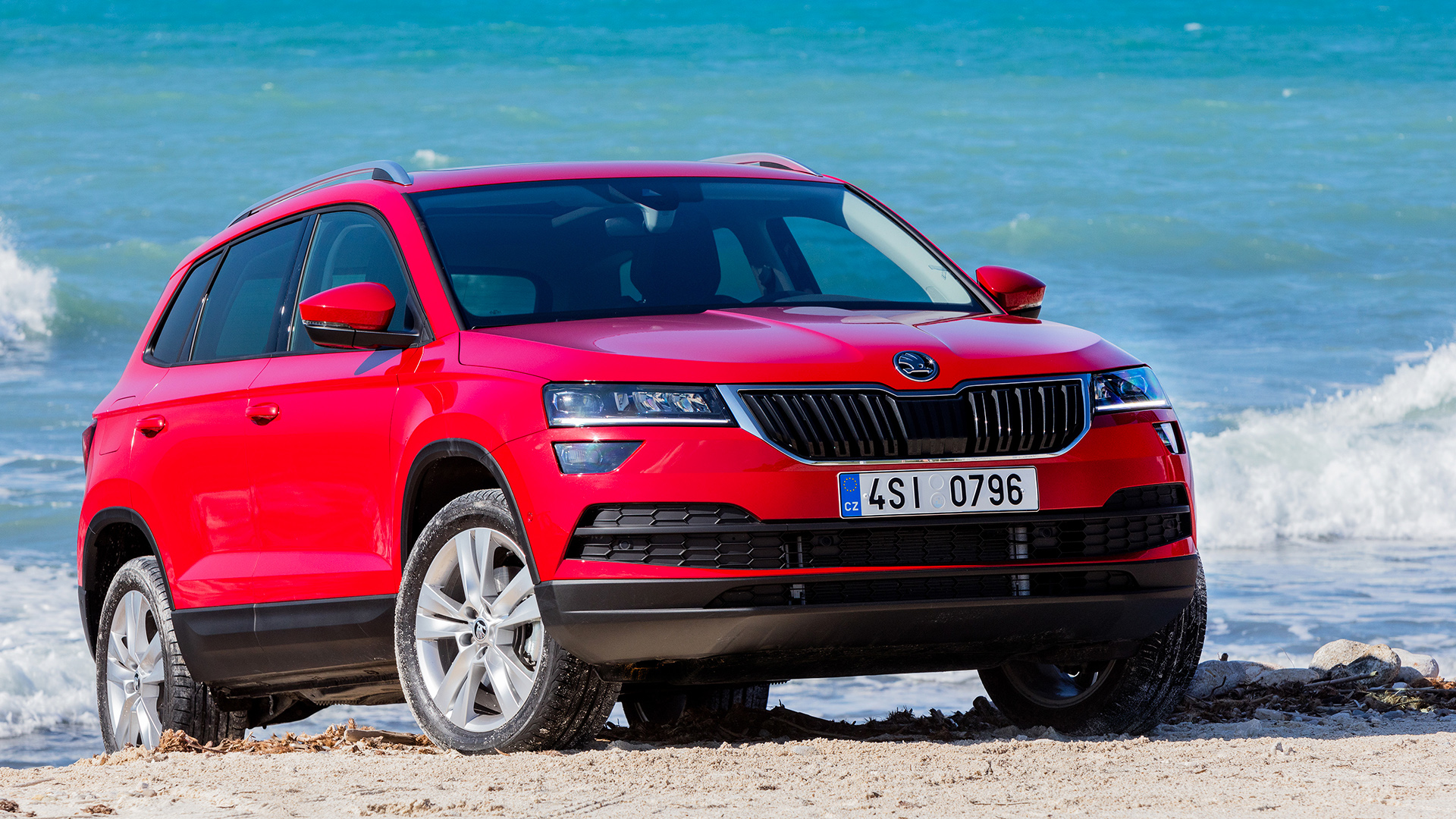 skoda karoq 2017 review driving report of skoda kodiaq. Black Bedroom Furniture Sets. Home Design Ideas