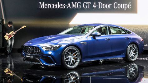 World premiere of the Mercedes-AMG GT 4-Door Coupé. Image: Daimler / http://quickcarreview.com