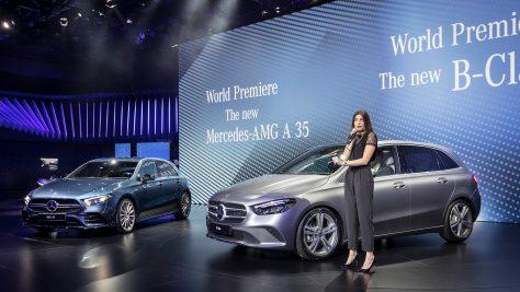 Mercedes-Benz B-Class World Premiere in Paris. Image: Daimler / quickcarreview.com