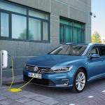Charging Volkswagen Passat GTE Estate, Amsterdam, 2015