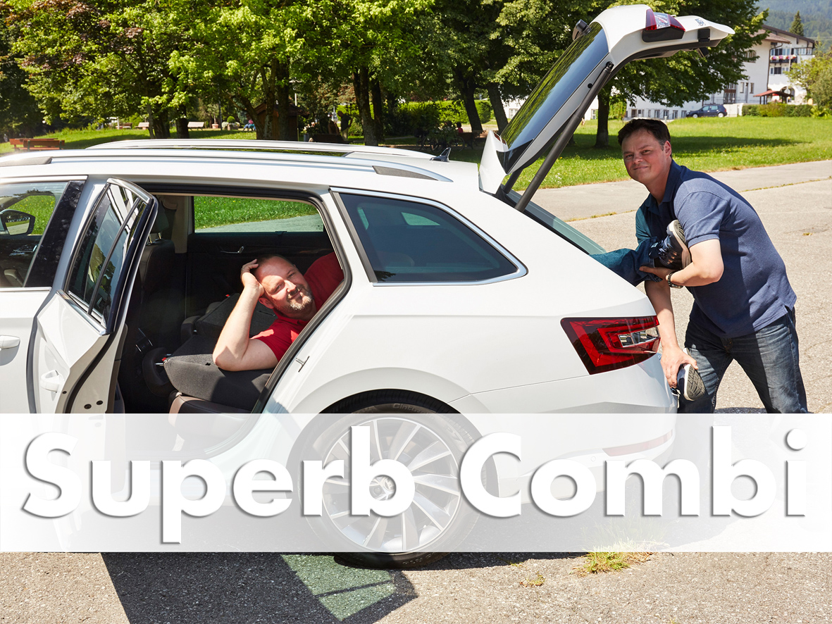 loading long items into skoda superb combi