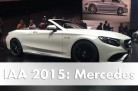 The world premiere of the S-Class Cabriolet at the 2015 IAA in Frankfurt. Image: Mercedes. / http://autovideoreview.com