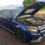 C-Class Coupe - Blue - Front and side Engine Bay