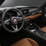 Dashboard of Fiat 124 Spider at World Premiere