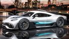 Showcar Mercedes-AMG Project ONE with fully-fledged Formula 1  1.6-litre V6 turbocharged petrol engine and four electric motors. Image: Daimler / http://quickcarreview.com