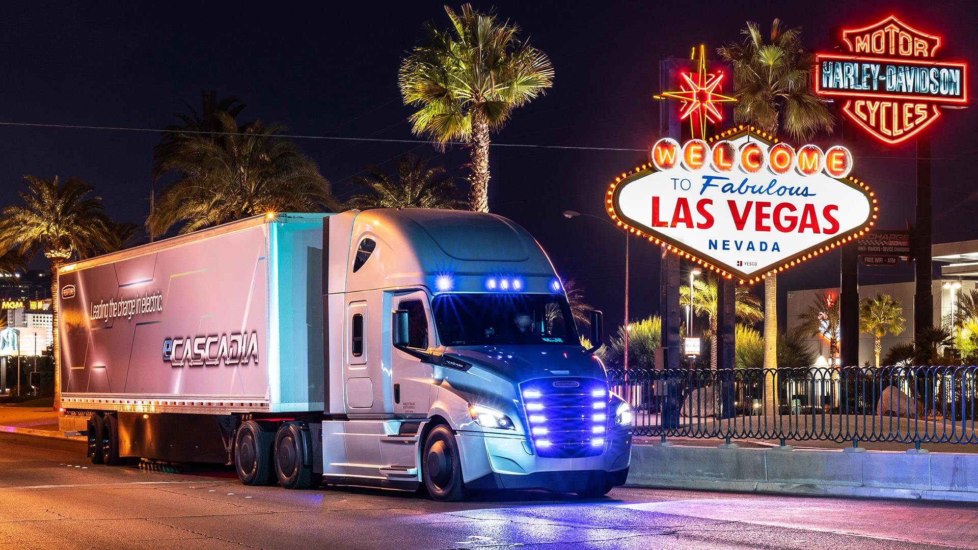 Freightliner Las Vegas >> 2019 Ces Las Vegas World Premiere Of The New Freightliner
